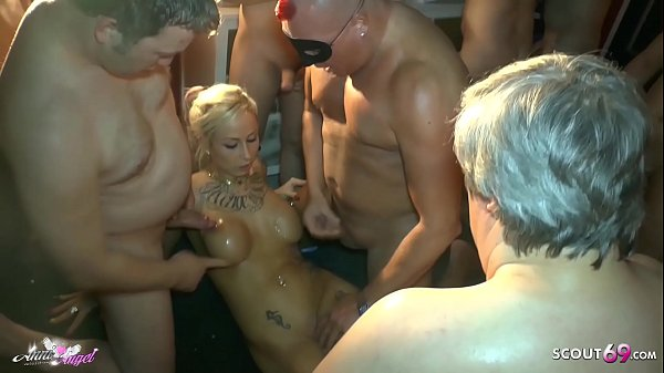 Extrem Gangbang for German Teen Anni Angel at Sexparty in HH
