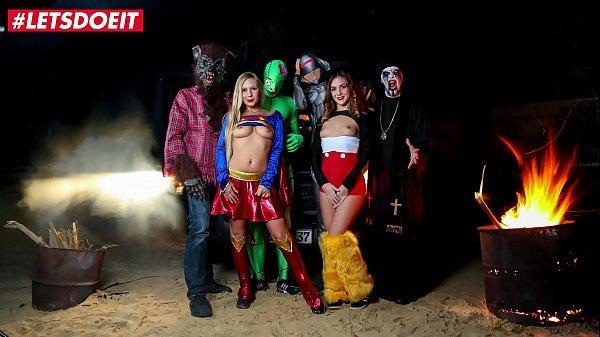 LETSDOEIT - Halloween Fuck Fest On The Kinky Bus (Lullu Gun & Lena Nitro)