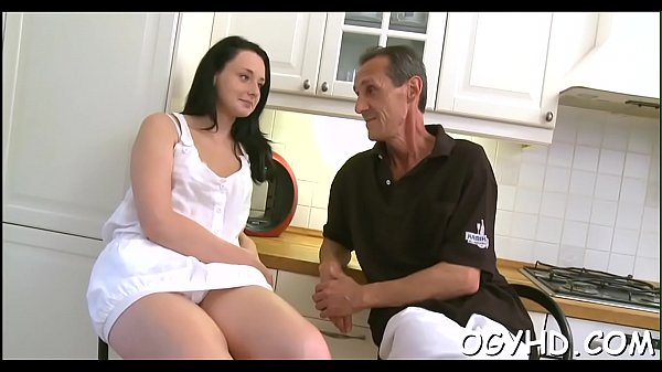 Old nasty man fucks young hole
