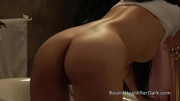 Busty Lesbian Maid In Lingerie Masturbates And Orgasms