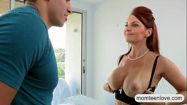 Busty milf threesome with young couple