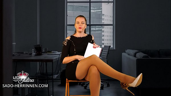 Application at Office Mistress Lady Julina as Nylon-, Shoe- & Foot Slave Thumb