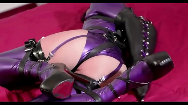 crazyamateurgirls.com - Bondage In Purple Latex - crazyamateurgirls.com Thumb