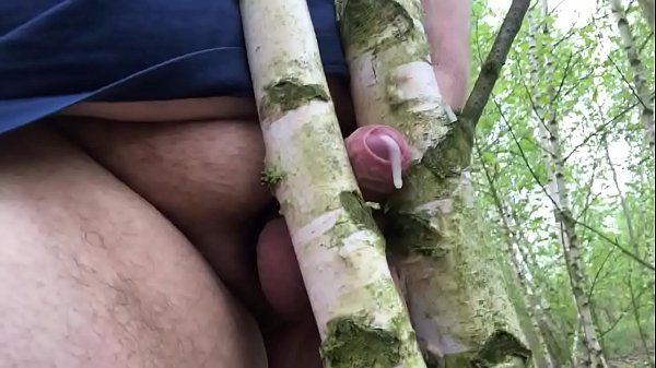 Chubby outdoor Cumshot