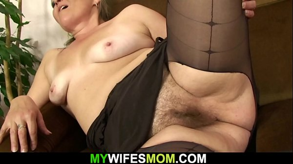 Hairy pussy old m. inlaw rides his cheating cock
