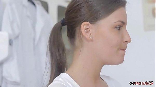 Zuzana schoolgirl came to the medical examination