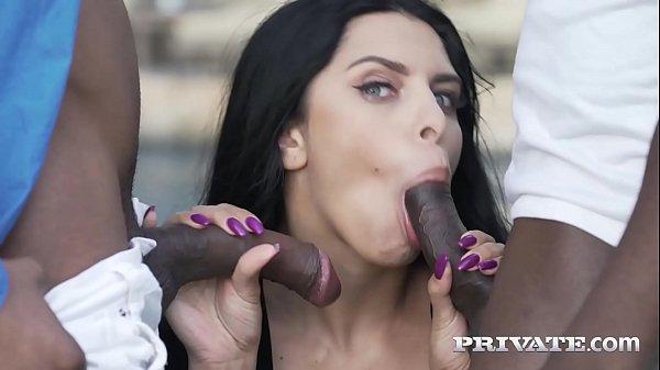 Private.com -Big Titty Kira Queen Cummed On By 2 Black Cocks Thumb