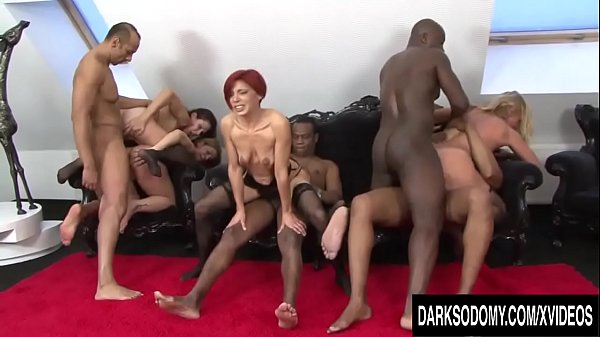 Four Mature Hotties Spread Their Assholes for BBC and Toys