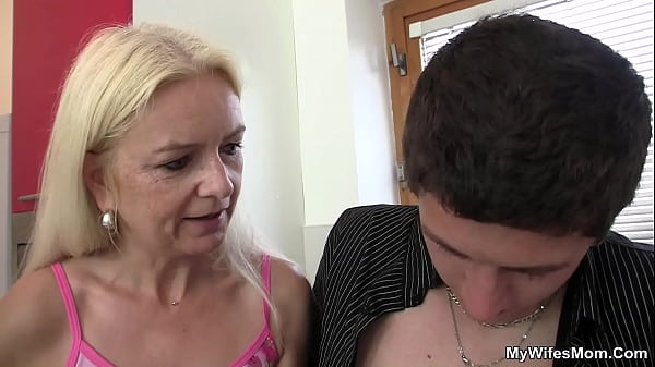 60 years old blonde mother inlaw rides his dick Thumb