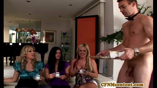 Cfnm femdom India Summer spoonful of cum