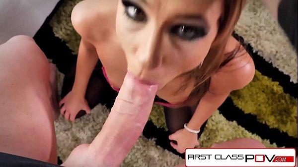 FirstClassPOV - Teen Tara Ashley sucking a monster cock, big booty