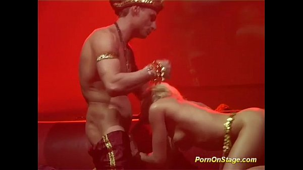 real sex on public stage