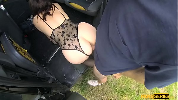 Horny redhead lady Cherri adores hardcore sex inside the taxi