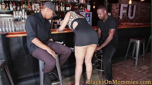 Milf bartender interracial plowed in her bar Thumb