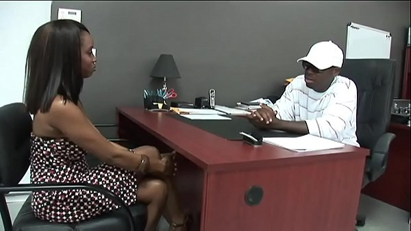 Black stud gets to fuck a hot Ebony Girl in his Office.xxblacks.com Thumb