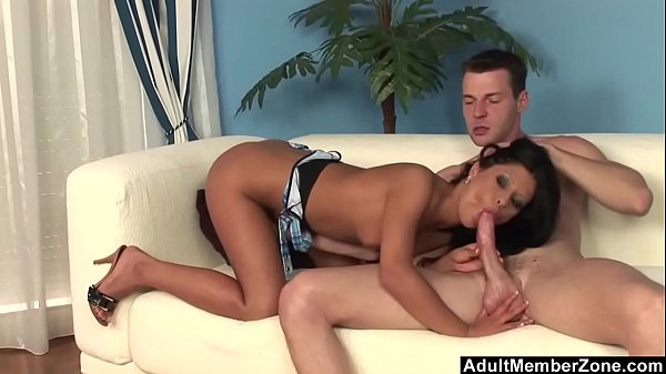 Skinny Babe Makes Him Cum Twice