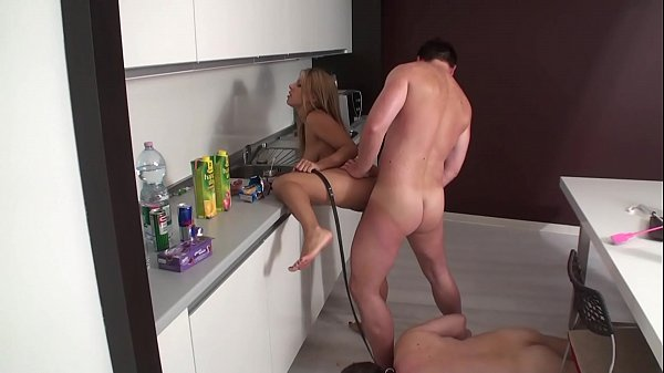 Cuckold have to look while his Mistress and Master have fun
