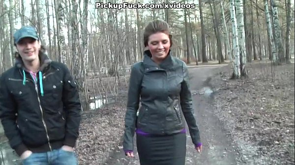 Titted brunette fuck in the woods Thumb