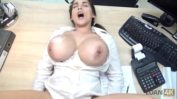 LOAN4K. Hot Mischel Lee has to pay for her boob...