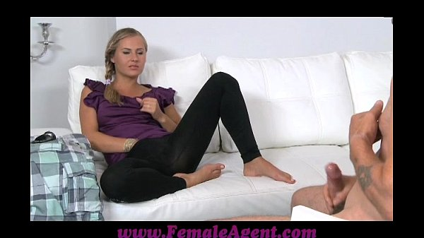 FemaleAgent Mutual masturbation in casting inte...
