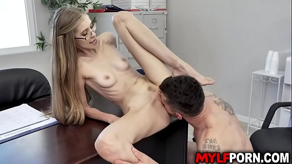 Sexy MILF boss Kyaa Chimera had sex with her employee Mike Mancini. He stretches her cunt with his rod and plows her until she squeals in pleasure.
