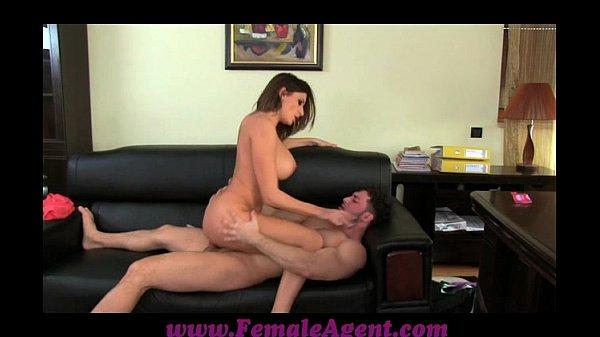 FemaleAgent Massive cumshot across marvellous tits