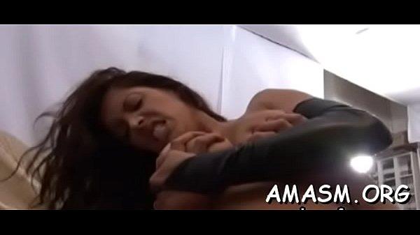 Slutty woman enjoys complete femdom with humiliation