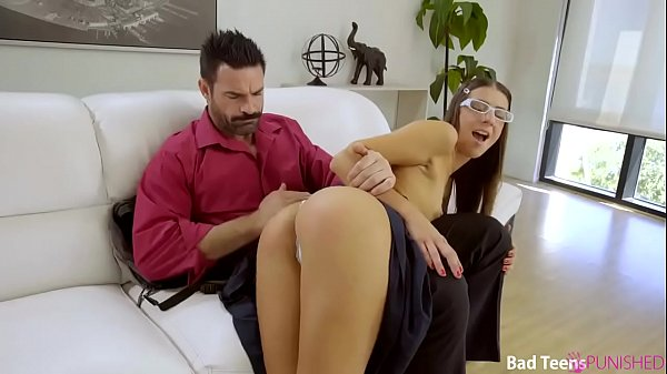 Strict man punished his slutty young stepdaughter Tara Ashley