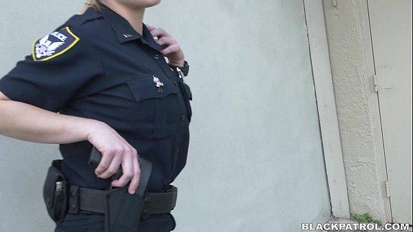 Female cops hunt for black cock