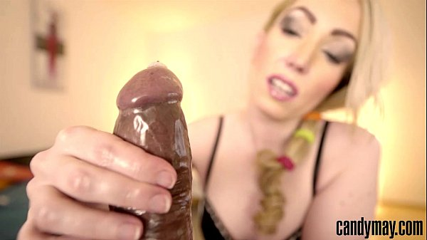 Candy May - Jerks off BBC with condom Thumb