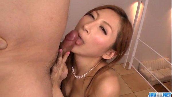 Reira Aisaki dirty POV blowjob combined with sex