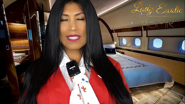 ASMR Sensual- Horny Private Flight Attendant