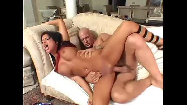 Bald man comes for splashing face of huge boobs chick Eva Angelina with a cum
