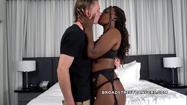 Naughty black girl Samantha gets fucked by big hard white cock.