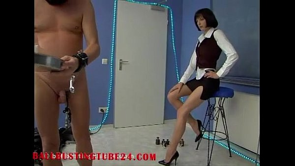BallbustingChicks – femdom mistress Andrea – Ballbusting bondage - watch full at ballbus