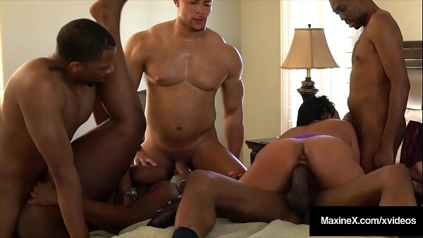 Busty Asian Sensation Maxine X Does Crazy Orgy With 4 Dicks & 1 BBW! Thumb