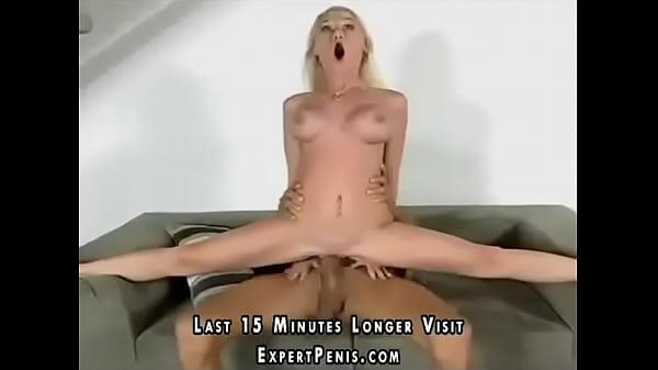 Flexible Madison Scott splitting on monster cock