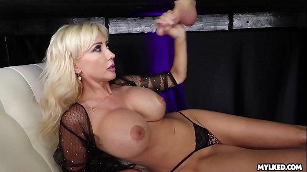 Jizz On Her Boobs - Big Boob Milf Milked His Cock