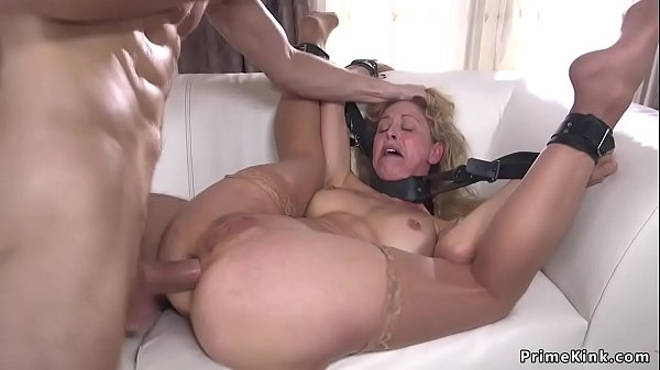 Bound blonde officer anal fucked Thumb