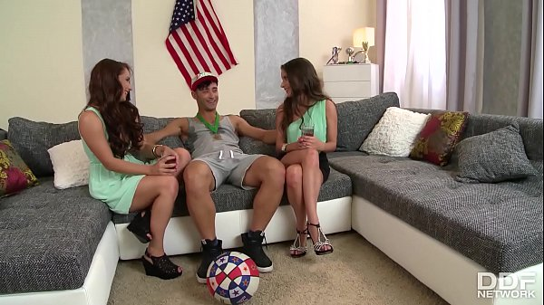 Anita B. & Jenny share sportsman's massive cock in XXX anal threesome Thumb