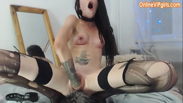 Naughty fisting by beautiful young brunette in ...