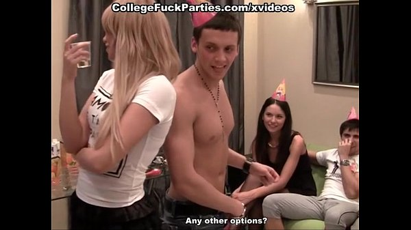 party with stockings, anal fuck, blowjob and cumshots