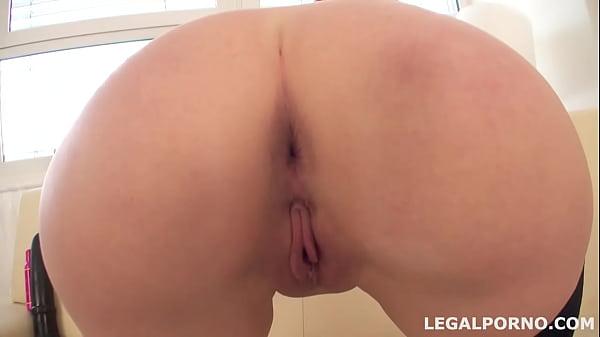 Sperm j. #2, Eva Berger swallows 17 cumshots after her first DAP GIO052