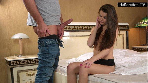 Defloration - a professional takes Mirella's virginity Thumb