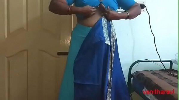 desi Indian  tamil aunty telugu aunty kannada aunty  malayalam aunty Kerala aunty hindi bhabhi horny cheating wife vanitha wearing saree showing big boobs and shaved pussy Aunty Changing Dress ready for party and Making Video Thumb