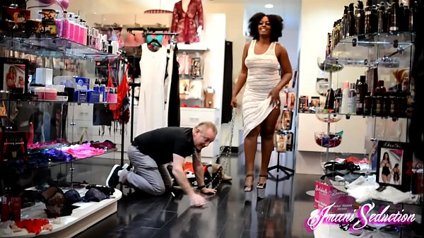White Sub Trampled in Public by Goddess Imani Thumb