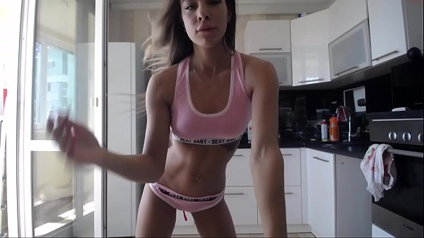 sport girl show body