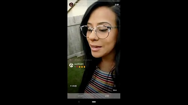 Husband surpirses IG influencer wife while she's live. Cums on her face.