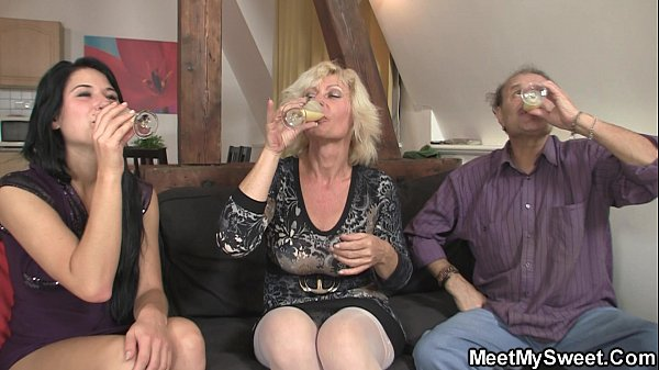 Image 69 with his mom and riding old dad's cock
