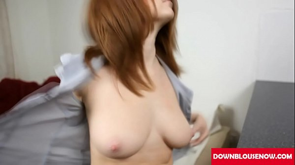 red head saggy tits downblouse